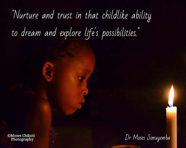 Inspirational quote. Dr Moses Simuyemba