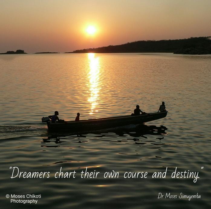 Inspirational life quotes. Dr Moses Simuyemba. Lake Kariba, Siavonga.