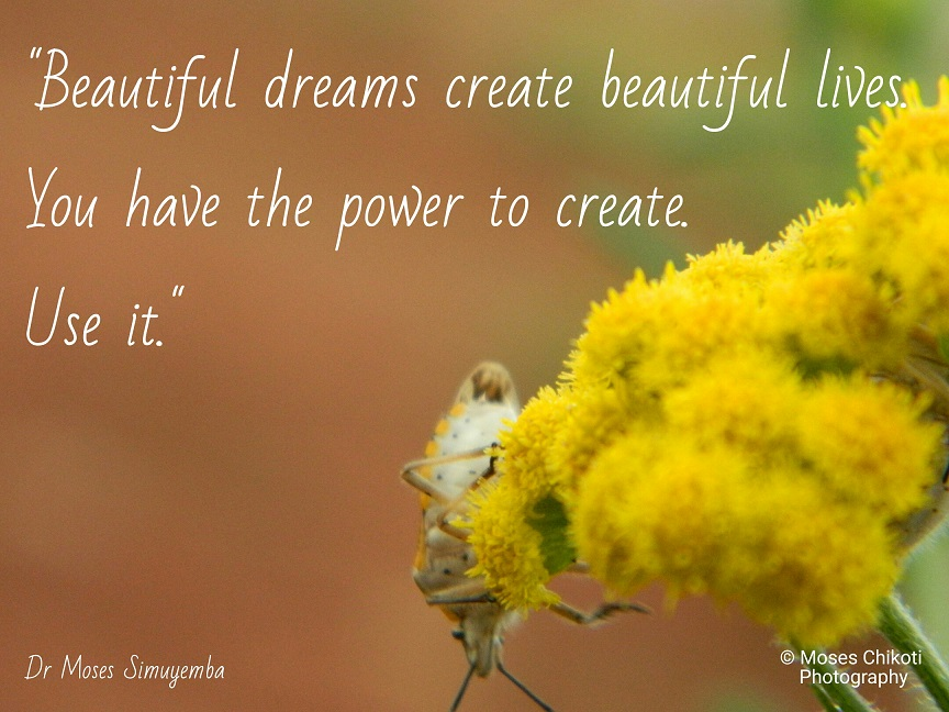 dream quotes, quotes about dreams, dr moses simuyemba, motivation for dreamers