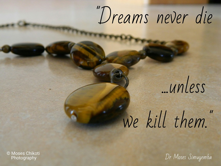 Dreams quotes, dream quotes, quotes about dreams, dr moses simuyemba, motivation for dreamers