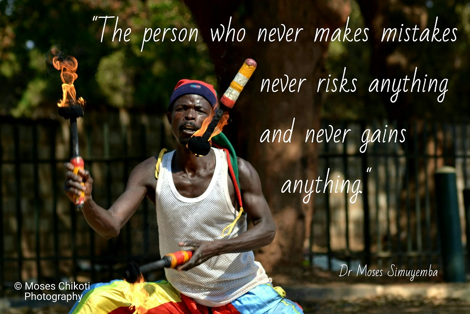 free inspirational quotes. Dr Moses Simuyemba. Juggler on the streets of Lusaka.