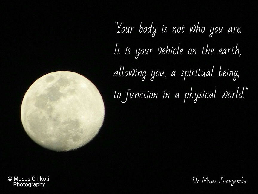 free inspirational quotes. Dr Moses Simuyemba. Moon picture.