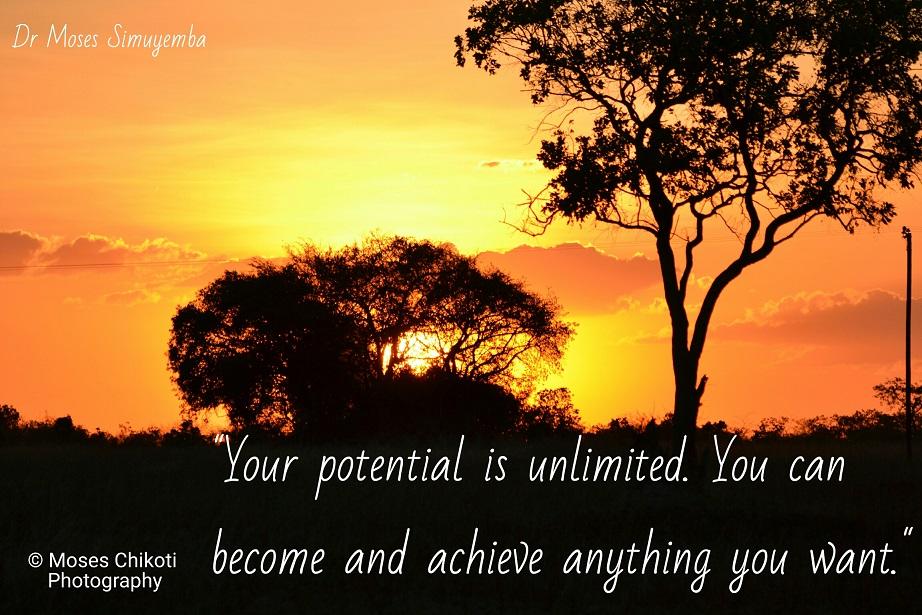 words of motivation. Dr Moses Simuyemba. Chaminuka Game Reserve, Lusaka, Zambia.